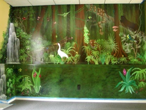 Jungle mural/headboard